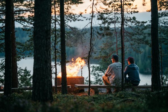 Enjoying natural Finland BBQ and cottages