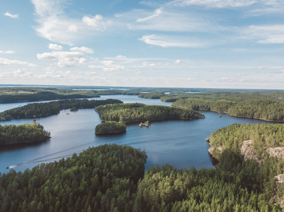 Finnish nature and lakes in Repovesi