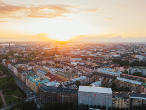 Helsinki City overview in Finland