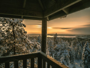 Viewpoint scenery in Rovaniemi.