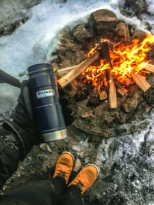 Rovaniemi campfire and coffee